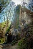 Grotto, ένας τεχνητός καταρράκτης Malievtsy, περιοχή Khmelnitsky, Στοκ Εικόνες