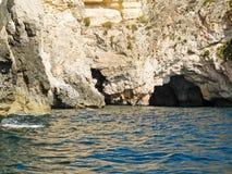 Grotto blu, Malta Fotografia Stock
