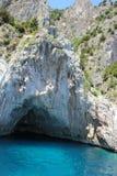 Grotto in Capri Stock Photography
