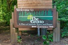 The Grotto Catholic shrine Stock Photography