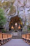 Grotto de nuestra señora del santuario nacional de nuestra capilla católica de la madre triste en Portland imagen de archivo