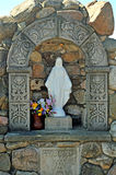 Grotto devoted to Virgin Mary. Image of a grotto to Virgin Mary Royalty Free Stock Photo
