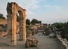 Grotto di Catullo废墟, Sermione,意大利 库存照片