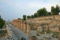 Grotto di Catullo废墟, Sermione,意大利 库存图片