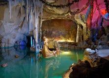 Grotto di Venus nel castello di Linderhof, Baviera Fotografie Stock Libere da Diritti