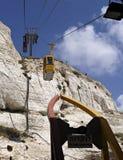 grotto för kabelbilar Arkivfoto