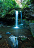 Grotto Falls in Great Smoky Mountain. Grotto Fall with rock, pool, and tree Royalty Free Stock Photos