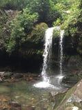 Grotto Falls. Waterfall in the mountains of Gatlinburg stock photos