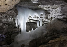 Grotto in Kungur ice cave Stock Images