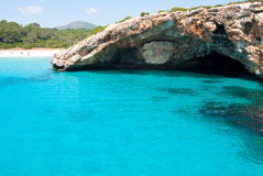 The grotto on Majorca, Spain Royalty Free Stock Images