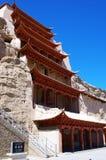 Grotto Mo Kao на Дуньхуане Стоковое Изображение RF