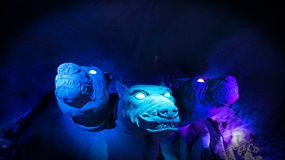 Grotto monsters in ultra violet