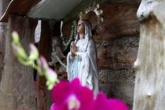 Grotto of mother mary. Christian belief religion icon Royalty Free Stock Photography