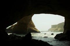 Grotto nella sosta nazionale di Paracas Fotografia Stock