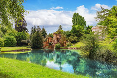 Grotto Of Apollo In Petit Trianon-beautiful Garden In A Famous P Royalty Free Stock Photos