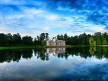Grotto pavilion. In Catherine Park, Tsarskoe Selo, St.Petersburg Royalty Free Stock Photo