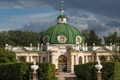 The grotto pavilion. In the Park Kuskovo, Moscow stock photos