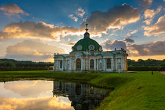 Grotto pavilion in park Kuskovo Stock Photos