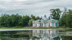 Grotto Pavilion timelapse in Catherine Park at Tsarskoye Selo Pushkin , St. Petersburg, Russia. Grotto Pavilion timelapse in Catherine Park at Tsarskoye Selo ( stock video footage