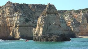 Grotto Rock Formations And Water