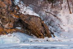 Grotto in the rocks. Royalty Free Stock Image