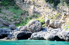 Grotto in the south of Italy stock image
