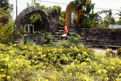 Grotto of Virgin Mary in Moog of Bulusan or Forts of Bulusan Royalty Free Stock Images
