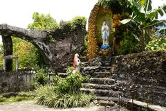 Grotto of Virgin Mary in Moog of Bulusan or Forts of Bulusan Royalty Free Stock Photography