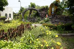 Grotto of Virgin Mary in Moog of Bulusan or Forts of Bulusan Stock Images