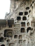 grottoen longmen Arkivbild