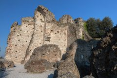 Grottoes of Catullus in Sirmione, Italy Royalty Free Stock Photo