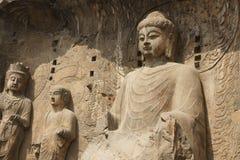 Grottoes de Longmen Imagem de Stock