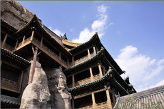 Grottoes de Yungang Imagens de Stock