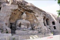 Grottoes de Yungang Fotos de Stock