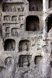 Grottoes di Longmen Immagine Stock