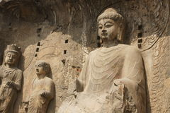 Grottoes di Longmen Immagine Stock