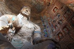 Grottoes di Yungang immagine stock