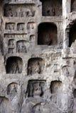 grottoes longmen Fotografering för Bildbyråer