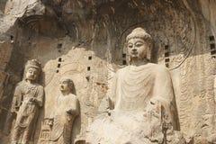 grottoes longmen Arkivfoton