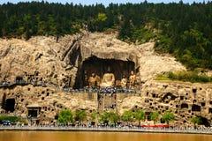 grottoes longmen Arkivbild
