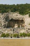 grottoes longmen luoyang Royaltyfri Foto