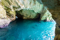 Grottoes Rosh Hanikra. Nature reserve Royalty Free Stock Photography