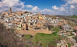 Grottole Matera, Basilicata, Italien arkivbilder