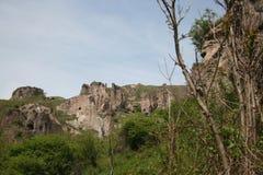 Grottor av Khndzoresk Arkivfoton