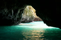 Grottor av Lagos (Algarve - Portugal) Royaltyfria Foton