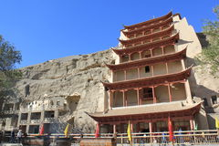 grottor dunhuang Royaltyfria Bilder