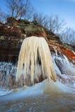 Grottor för apostelöis, vinter, lopp Wisconsin royaltyfri fotografi