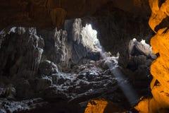 Grottor i karstberget Vietnam Royaltyfri Fotografi