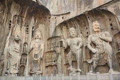grottor longmen luoyang Royaltyfri Bild