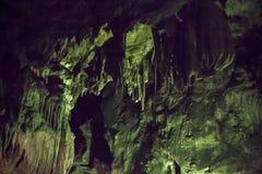 Grottor och grottabildande i kanjonen av floden bredvid Bor royaltyfri fotografi
